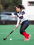 HUIZEN  -  Mirte Jansen (HUI)   , hoofdklasse competitiewedstrijd hockey dames, Huizen-Groningen (1-1)   COPYRIGHT  KOEN SUYK