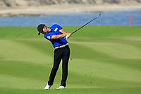 Soomin Lee (KOR) during the final round of the NBO Open played at Al Mouj Golf, Muscat, Sultanate of Oman. <br /> 18/02/2018.<br /> Picture: Golffile | Phil Inglis<br /> <br /> <br /> All photo usage must carry mandatory copyright credit (&copy; Golffile | Phil Inglis)