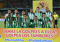 MEDELLÍN -COLOMBIA, 07-03-2018: Atlético Nacional y Jaguares de Córdoba FC durante partido por la final por la fecha 7 de la Liga Águila I 2018 jugado en el estadio Atanasio Girardot de la ciudad de Medellín. / Atletico Nacional and Jaguares de Cordoba FC during match for the date 7 of the Aguila League I 2018 at Atanasio Girardot stadium in Medellin city. Photo: VizzorImage/ León Monsalve /Cont