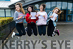 Ruth O'Connell, Ciara McCarthy, Sinead Deasy and Michaela Hennessy all from Tralee, who received their Leaving Certificate results at Mercy Mounthawk Secondary School, Tralee, on Wednesday morning last.