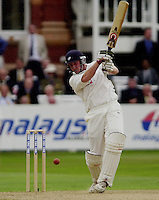 Photo Peter Spurrier.31/08/2002.Cheltenham & Gloucester Trophy Final - Lords.Somerset C.C vs YorkshireC.C..Yorkshire batting;   Antony McGrath.