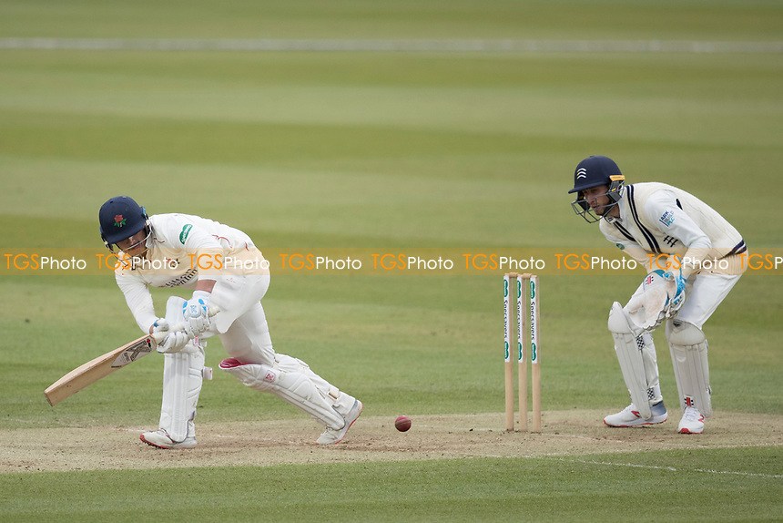 Rob Jones of Lancashire CCC nudges into the on side for a single during Middlesex CCC vs Lancashire CCC, Specsavers County Championship Division 2 Cricket at Lord's Cricket Ground on 12th April 2019