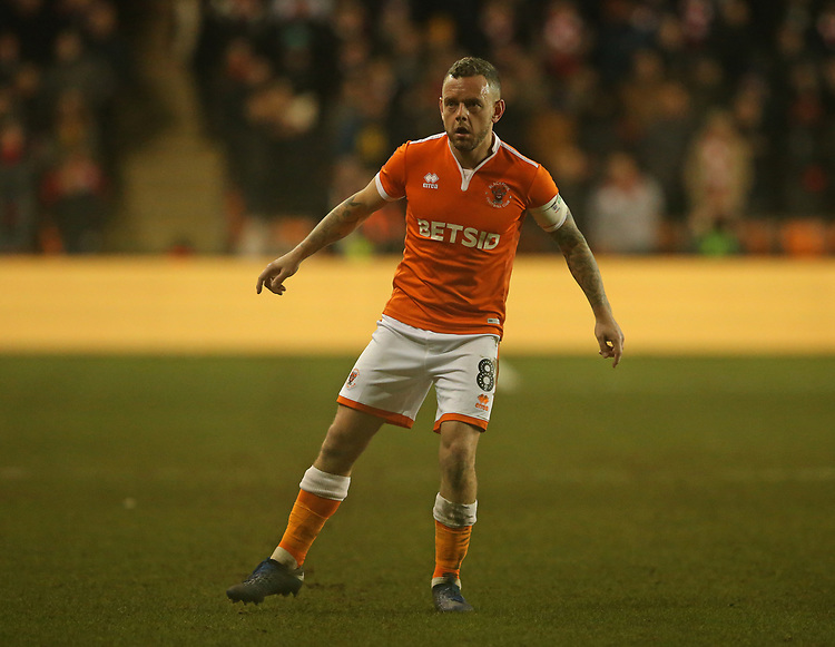 Blackpool's Jay Spearing<br /> <br /> Photographer Stephen White/CameraSport<br /> <br /> Emirates FA Cup Third Round - Blackpool v Arsenal - Saturday 5th January 2019 - Bloomfield Road - Blackpool<br />  <br /> World Copyright © 2019 CameraSport. All rights reserved. 43 Linden Ave. Countesthorpe. Leicester. England. LE8 5PG - Tel: +44 (0) 116 277 4147 - admin@camerasport.com - www.camerasport.com