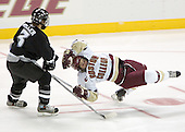 Austin Miller (holding penalty), Nathan Gerbe (diving penalty)  The Boston College Eagles defeated the Providence College Friars 3-2 in regulation on October 29, 2005 at Kelley Rink in Conte Forum in Chestnut Hill, MA.  It was BC's first Hockey East win of the season and Providence's first HE loss.