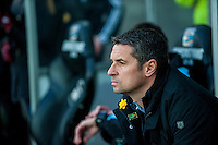 Remi Garde, Manager of Aston Villa prior  the Barclays Premier League match between Swansea City and Aston Villa played at the Liberty Stadium, Swansea  on March the 19th 2016