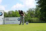 Darren Clarke (NIR) tees off on the 6th tee during Day 3 of the BMW Italian Open at Royal Park I Roveri, Turin, Italy, 11th June 2011 (Photo Eoin Clarke/Golffile 2011)