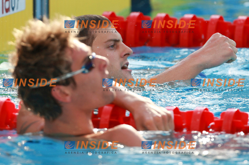 Roma 2nd AUGUST 2009 - 13th Fina World Championships ..From 17th to 2nd August 2009..men's 50 m Backstroke..Tancock Liam GBR..Lacourt Camille FRA..Roma2009.com/InsideFoto/SeaSee.com