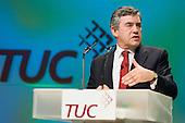 Prime Minister Gordon Brown addresses the Trades Union Congress annual conference, Brighton.