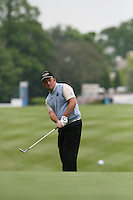 Damien McGrane chips onto the first hole during the 3rd round of the 2008 BMW PGA Championship at Wentworth Club, Surrey, England 24th May 2008 (Photo by Eoin Clarke/GOLFFILE)