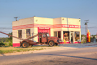 "The Historic Kan-O-Tex service station in Galena Kansas on route 66. The station has been restored and is now ""4 Women on the Route"" a sandwich and gift shop featuring route 66 and ""Car's"" items. The station is now named ""Cars on the Route"""