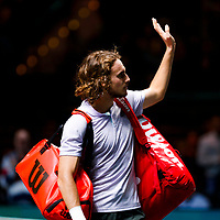 Rotterdam, The Netherlands, 9 Februari 2020, ABNAMRO World Tennis Tournament, Ahoy, Stefanos Tsitsipas (GRE).<br /> Photo: www.tennisimages.com