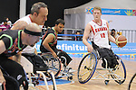 November 18 2011 - Guadalajara, Mexico:  Patrick Anderson of Team Canada controls the ball in the CODE Alcalde Sports Complex at the 2011 Parapan American Games in Guadalajara, Mexico.  Photos: Matthew Murnaghan/Canadian Paralympic Committee