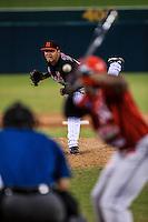 Edgar Torres pitcher abridor de Naranjeros , durante partido3 de beisbol entre Naranjeros de Hermosillo vs Mayos de Navojoa. Temporada 2016 2017 de la Liga Mexicana del Pacifico.<br /> © Foto: LuisGutierrez/NORTEPHOTO.COM