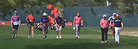 Shane Lowry (IRL), Matt Wallace (ENG) and Tyrrell Hatton (ENG) walking down the 3rd during Round 2 of the Omega Dubai Desert Classic, Emirates Golf Club, Dubai,  United Arab Emirates. 25/01/2019<br /> Picture: Golffile | Thos Caffrey<br /> <br /> <br /> All photo usage must carry mandatory copyright credit (© Golffile | Thos Caffrey)