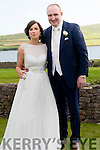 Margaret Mary Hanafin, from Been Bawn, Dingle, and Sean McDermott, from Castlerea, Roscommon, who were married at St. Mary's Church in Dingle on Saturday. The reception was held at the Skellig Hotel, Dingle.