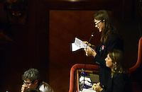 Roma, 2 Ottobre 2013<br /> Senato <br /> La senatrice Paola De Pin ex Movimento 5 Stelle dichiara la fiducia al Governo durante il suo intervento e accusa il M5S di tradimento verso gli elettori