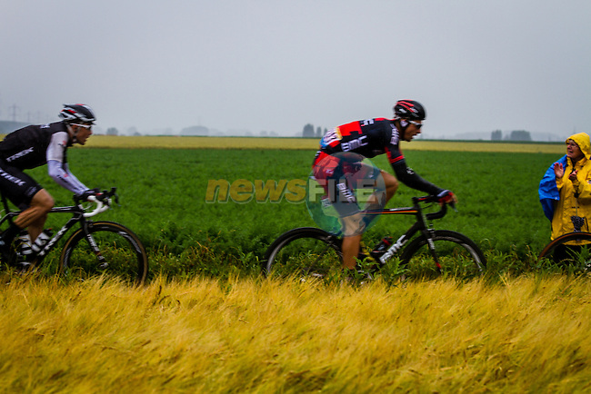 Michael Schar, BMC, Tour de France, Stage 5: Ypres > Arenberg Porte du Hainaut, UCI WorldTour, 2.UWT, Wallers, France, 9th July 2014, Photo by Thomas van Bracht / Peloton Photos