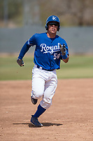 Kansas City Royals catcher Freddy Fermin (54) during a Minor League Spring Training game against the Milwaukee Brewers at Maryvale Baseball Park on March 25, 2018 in Phoenix, Arizona. (Zachary Lucy/Four Seam Images)