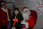 Rory Novack in dunleer for the arrival of Santa<br /> Picture: Fran Caffrey www.newsfile.ie