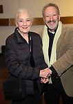 "Rosemary Harris and Allan Corduner attend the ""My Fair Lady"" Re-Opening Celebration at the Vivian Beaumont Theatre on January 27, 2019 in New York City."