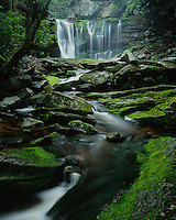 Blackwater Falls State Park, WV: Elakala Falls on Shay Run flowing into Blackwater Gorge