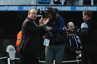 Newcastle United manager Rafa Benítez applauds fans at the final whistle during Newcastle United vs Arsenal, Premier League Football at St. James' Park on 15th April 2018