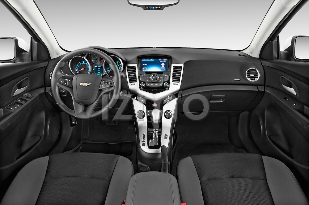 Stock photo of straight dashboard view of a 2015 Chevrolet Cruze 4-Door Sedan 2LT Automatic 4 Door  Dashboard