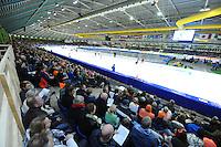 SCHAATSEN: HEERENVEEN: IJsstadion Thialf, 27-12-2015, KPN NK Afstanden, publiek, ©foto Martin de Jong