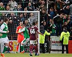 09.05.2018 Hearts v Hibs:  Florian Kamberi scores penalty
