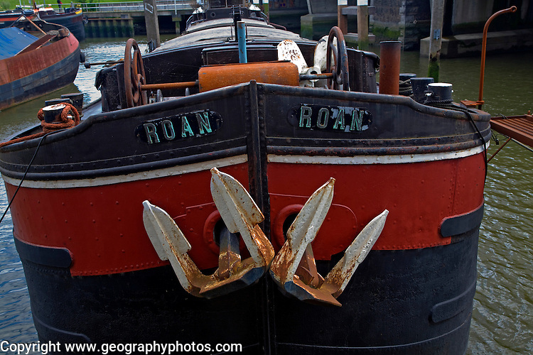 Houseboat bow detail, Rotterdam, South Holland, Netherlands