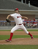 August 23, 2004:  Pitcher James (J.A.) Happ of the Batavia Muckdogs, Short-Season Single-A affiliate of the Philadelphia Phillies, during a game at Dwyer Stadium in Batavia, NY.  Photo by:  Mike Janes/Four Seam Images