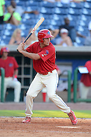 Clearwater Threshers outfielder Cameron Perkins (27) during a game against the Jupiter Hammerheads July 21, 2013 at Bright House Field in Clearwater, Florida.  Jupiter defeated Clearwater 1-0.  (Mike Janes/Four Seam Images)