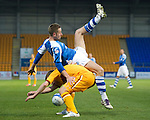 St Johnstone v Motherwell...03.11.12      SPL.Steven MacLean and Steven Hammell.Picture by Graeme Hart..Copyright Perthshire Picture Agency.Tel: 01738 623350  Mobile: 07990 594431