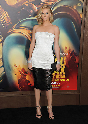 """HOLLYWOOD, CA - MAY 7:  Charlize Theron at the Los Angeles premiere of """"Mad Max: Fury Road"""" at the TCL Chinese Theatre on May 7, 2015 in Hollywood, California. Credit: PGSK/MediaPunch"""