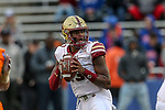 Boston College Eagles quarterback Anthony Brown (13) in action during the Servpro First Responder Bowl game between Boise State Broncos and Boston College Eagles at the Cotton Bowl Stadium in Dallas, Texas.