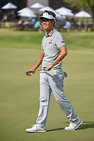 Kevin Na (USA) reacts to barely missing his putt on 18 during round 3 of the AT&amp;T Byron Nelson, Trinity Forest Golf Club, at Dallas, Texas, USA. 5/19/2018.<br /> Picture: Golffile | Ken Murray<br /> <br /> <br /> All photo usage must carry mandatory copyright credit (&copy; Golffile | Ken Murray)