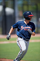Atlanta Braves Tyler Neslony (32) during a Minor League Extended Spring Training game against the Tampa Bay Rays on April 15, 2019 at CoolToday Park Training Complex in North Port, Florida.  (Mike Janes/Four Seam Images)