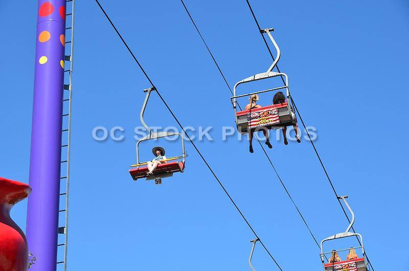People On The Gondola Ride At The OC Fair