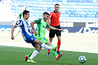 5th July 2020; RCDE Stadium, Barcelona, Catalonia, Spain; La Liga Football, Real Club Deportiu Espanyol de Barcelona versus Leganes; Marc Roca of Espanyol crosses past the block of Ruben Perez