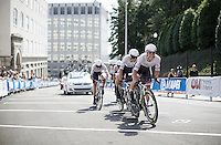 Trek Factory Racing Team at work<br /> <br /> Elite Men&rsquo;s Team Time Trial<br /> UCI Road World Championships Richmond 2015 / USA