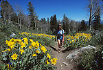 Judy Balthis hiking in Grand Teton National Park