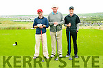Ballybunion GC Captain's Charity Day: Taking part in the Ballybunion Golf club captains charity day on Saturday last were Maurice Mulcaire, Paudie Casey & Dan Mulcaire.
