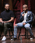 "Sean Green Jr. and Terrance Spencer during The Rockefeller Foundation and The Gilder Lehrman Institute of American History sponsored High School student #eduHam matinee performance of ""Hamilton"" Q & A at the Richard Rodgers Theatre on November 28, 2018 in New York City."