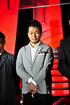 October 16, 2012, Tokyo, Japan - A designer of et momonakia poses on the catwalk wearing during Mercedes-Benz Fashion Week Tokyo 2013 Spring/Summer. The Mercedes-Benz Fashion Week Tokyo runs from October 13-20. (Photo by Yumeto Yamazaki/AFLO)