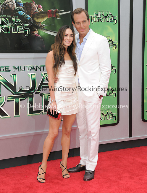 Will Arnett and Megan Fox attends The Paramount Pictures and Nickelodeon Movies Los Angeles premiere of TEENAGE MUTANT NINJA TURTLES at the Regency Village Theater in Westwood, California on August 03,2014                                                                               © 2014 Hollywood Press Agency