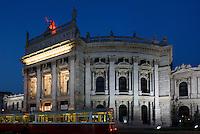 Burgtheateram Universit&auml;tsring  in Wien, &Ouml;sterreich, UNESCO-Weltkulturerbe<br /> Burgtheater at Universit&auml;tsring, Vienna, Austria, world heritage