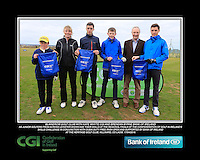 Blainerow Golf Club boys With Kate Wright CGI and Brendan Byrne Bank of Ireland.<br /> Junior golfers from across Leinster practicing their skills at the regional finals of the Dubai Duty Free Irish Open Skills Challenge supported by Bank of Ireland at the Heritage Golf Club, Killinard, Co Laois. 2/04/2016.<br /> Picture: Golffile | Fran Caffrey<br /> <br /> <br /> All photo usage must carry mandatory copyright credit (© Golffile | Fran Caffrey)