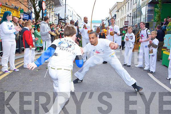 Martial arts being performed at the Killarney St Patricks parade on Thursday