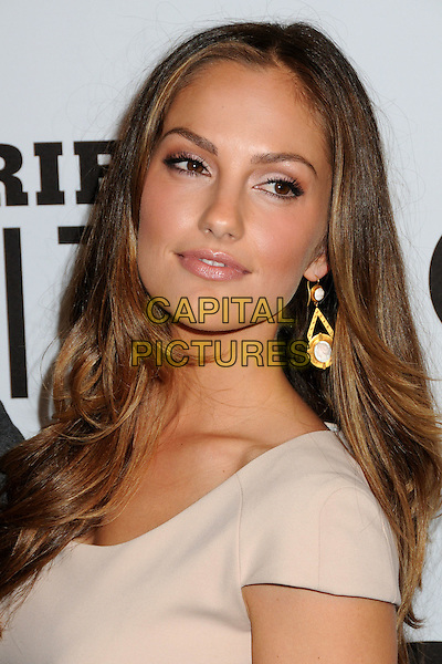 MINKA KELLY .Gatorade G Series Fit Launch Event held at the SLS Hotel, Los Angeles, California, USA..April 12th, 2011.headshot portrait beige cream gold dangling earrings .CAP/ADM/BP.©Byron Purvis/AdMedia/Capital Pictures.