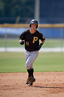 Pittsburgh Pirates first baseman Hunter Owen (41) runs the bases during a Florida Instructional League game against the Toronto Blue Jays on September 20, 2018 at the Englebert Complex in Dunedin, Florida.  (Mike Janes/Four Seam Images)